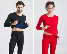 Men s Fall and Winter Thermal underwear sets 100 cotton thickening underwear pajamas suit size L