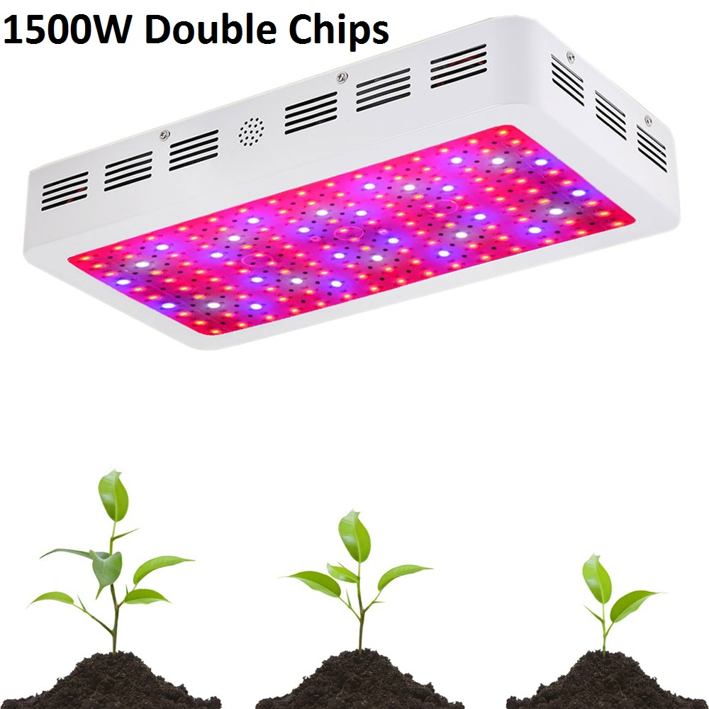 1500W 1800W 2000 Double Chips LED Grow Light Full Spectrum 410 730nm For Indoor Plants Flower
