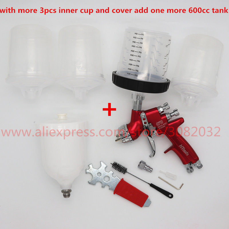 adapter pot joints spray gun with PPS Type H/O Quick Cup, No cleaning Cup spray gun adapter/paint spray gun /sprayer gun-in Spray Guns from Tools    1