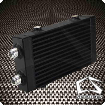 """Universal Small Bar and Plate Dual Pass Oil Cooler Core:9.5""""x5.5""""x1.58"""""""