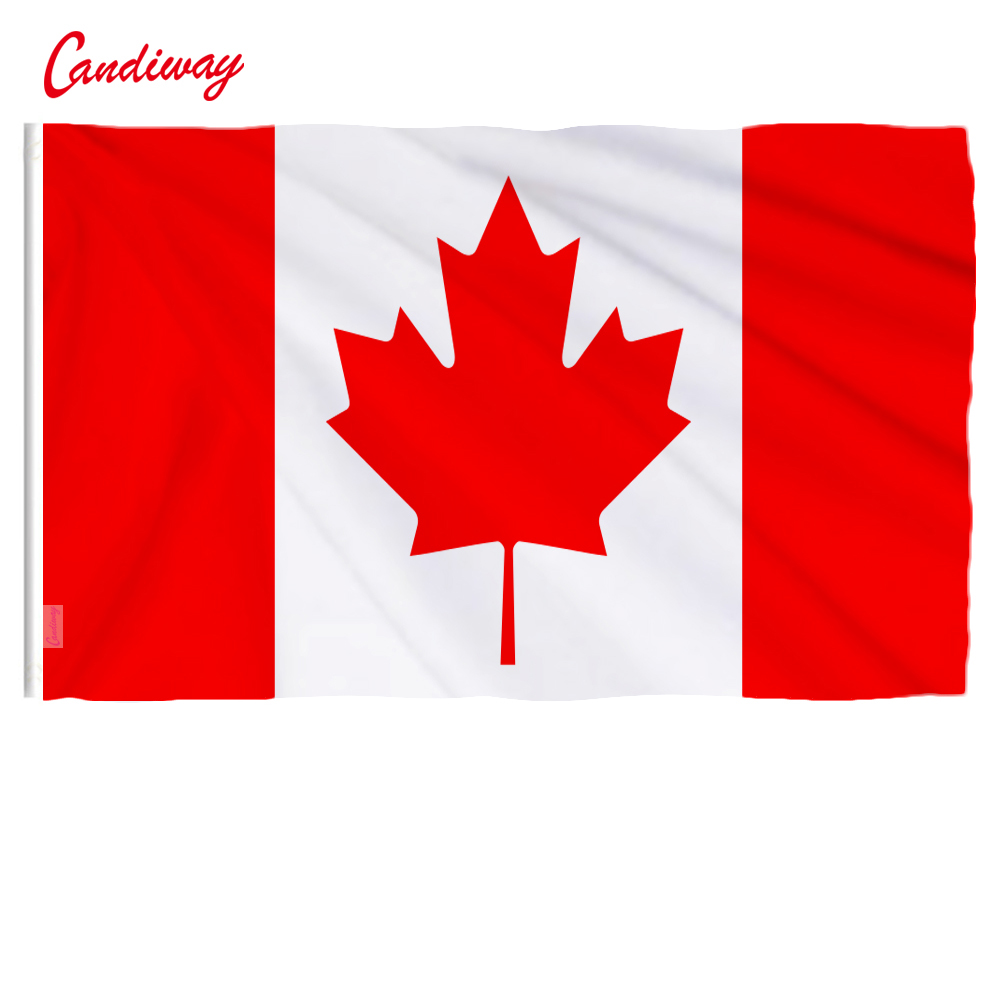 90 X 60cm Large Flag Great Canadian Flag Banner Hundred Percent Polyester Printed Canada Flags  NN006