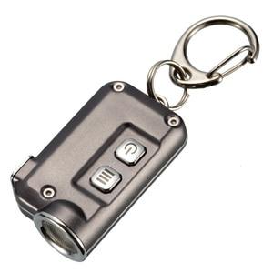 Image 4 - 2018 Nieuwe Nitecore Tini 380 Lumen Micro Usb Opladen Mini Metallic Sleutelhanger Licht Zaklamp