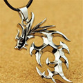 FD4489 new Japanese Anime Dragonball Z Silver Dragon Shape Meatal Pendant Necklace