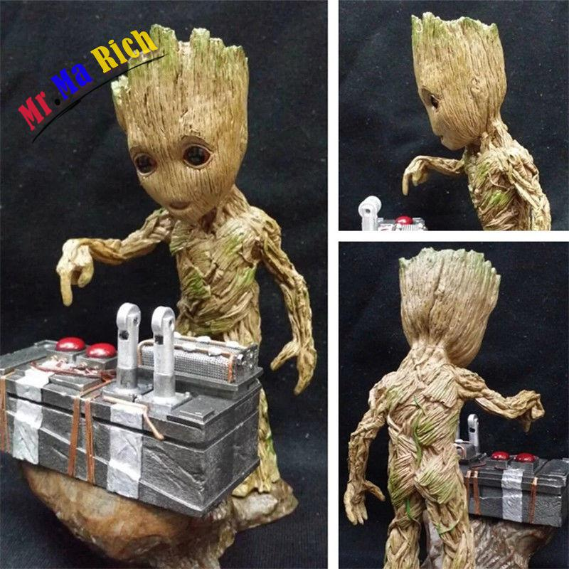 New Baby  Guardians of the Galaxy Vol.2 Push Bomb Button Figure Statue Toy guardians team up vol 1 guardians assemble