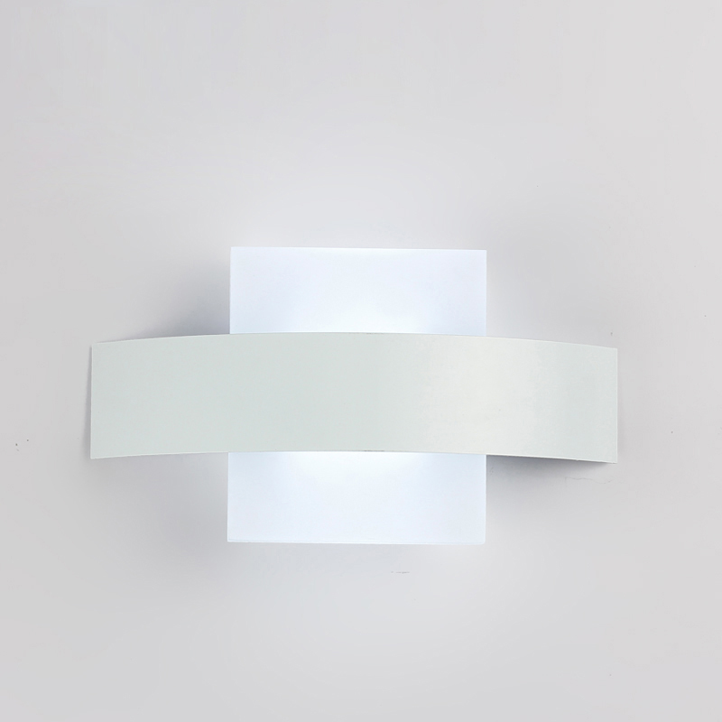SINFULL ART Modern Wall Lamp Square Acrylic Living room Light Bathroom Home Decoration Sconce Lights AC90-260V Lamparas De Pared bedside wooden wall lamp wood glass aisle wall lights lighting for living room modern wall sconce lights aplique de la pared