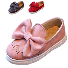 2017 Spring Girls Shoes Pink Casual Pink Schools Shoes Cute Bow Kids Shoes Children Flats Softable Beautiful Children's Shoes