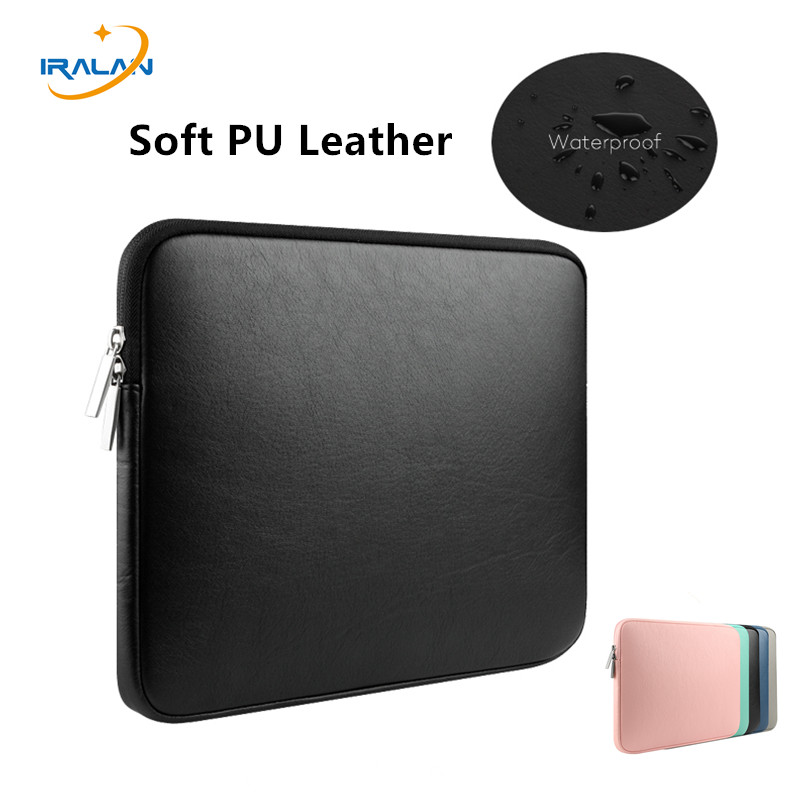 2017 New Soft PU Leather Waterproof Laptop Zipper Sleeve Bag for Macbook Air 13 Pro Retina 11 12 14 15 inch Shockproof style image