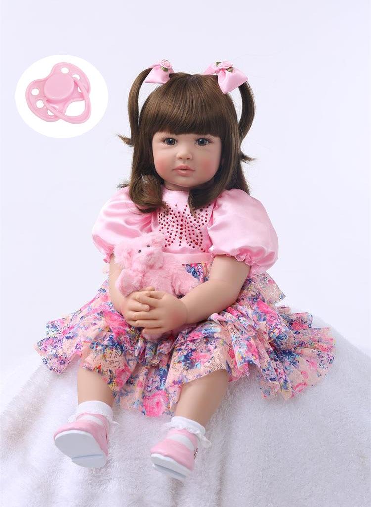 Silicone Reborn Baby Doll Giocattoli 60 cm Della Principessa Del Bambino I Bambini Amano Vivo Bebe Ragazze Brinquedos Collezione Limitata Regalo Di Compleanno
