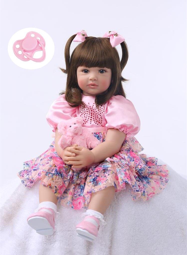Silikon Reborn Baby Puppe Spielzeug 60 cm Prinzessin Kleinkind Babys Wie Lebendig Bebe Mädchen Brinquedos Begrenzte Sammlung Geburtstag Geschenk