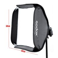 Godox 60x60cm Softbox Bag Kit for Camera Studio Flash fit Bowens Elinchrom Mount