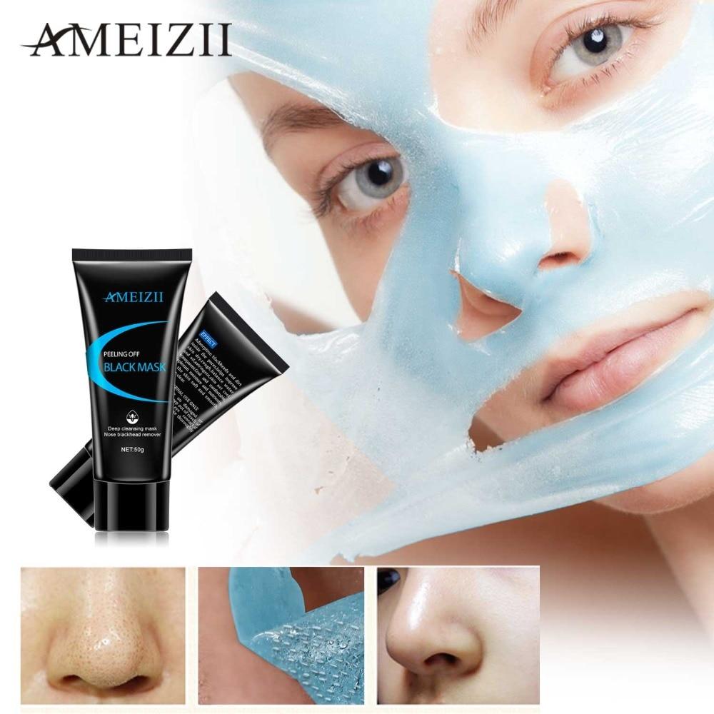 AMEIZII Remove Blackhead Anti Aging Masks Acne Treatment Black Mask Face Skin Care Oil Control Moisturizing Peel Mask Blue Color