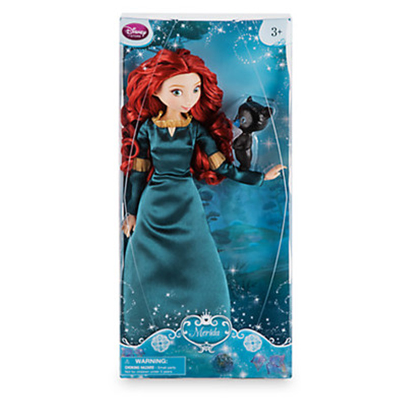 Movie Pixar Brave Merida Classic princess Doll with Bear Cub action Figure dolls collection birthday gift toys for children