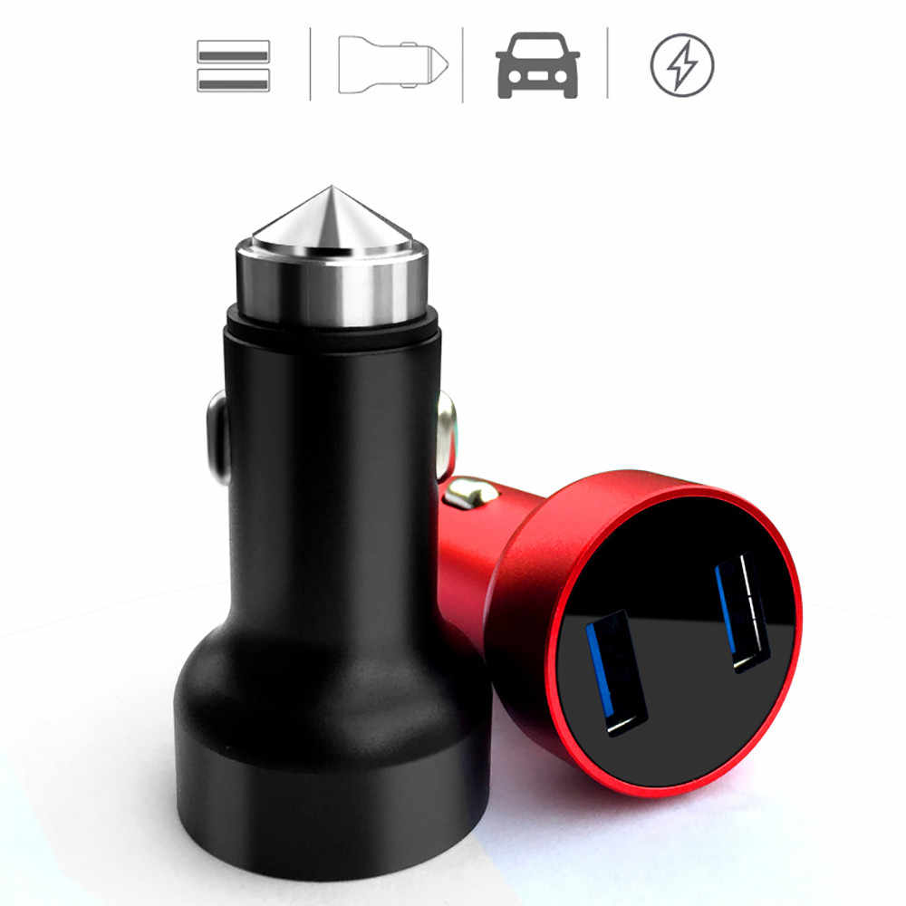 kongyide car usb charger 3.1A Dual USB Car Charger 2 Port LCD Display 12-24V Cigarette Socket Lighter Drop Ship 0113