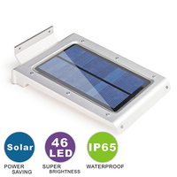 عالية الجودة 46 led الطاقة الشمسية استشعار الحركة ip65 للماء إنقاذ حديقة مسار الجدار ضوء الطوارئ الشمسية الصمام مصابيح