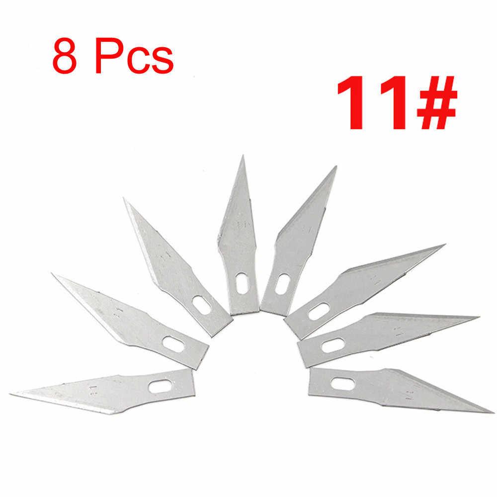 8 יח'\סט להבי עץ גילוף חריטת מלאכת פיסול אזמל חיתוך כלי PCB רב תכליתי דגם סימון מחצלת חיתוך