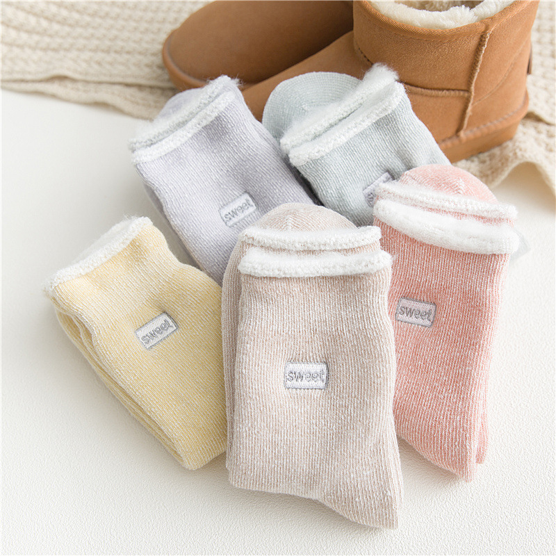 10pairs/pack Socks Women Winter Velvet Thickened Wool Warm Socks Cotton Inner Pulled Loop Super Thick Women's Socks Wholesle