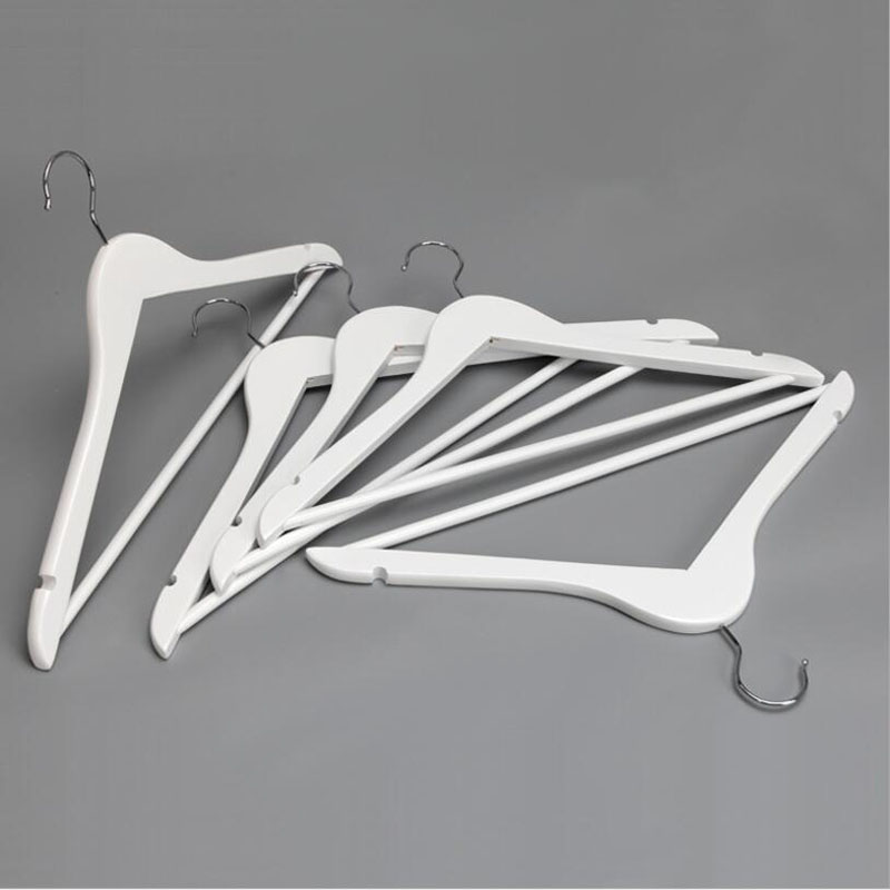 [Free Shipping] Most Popular A Grade White Wood Hanger for Suits, Curved Style (10 pieces/ lot)