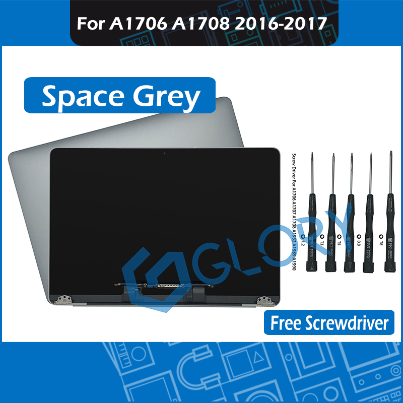 2016 2017 Year Space Grey A1706 A1708 LCD Screen Assembly For Macbook Pro 13