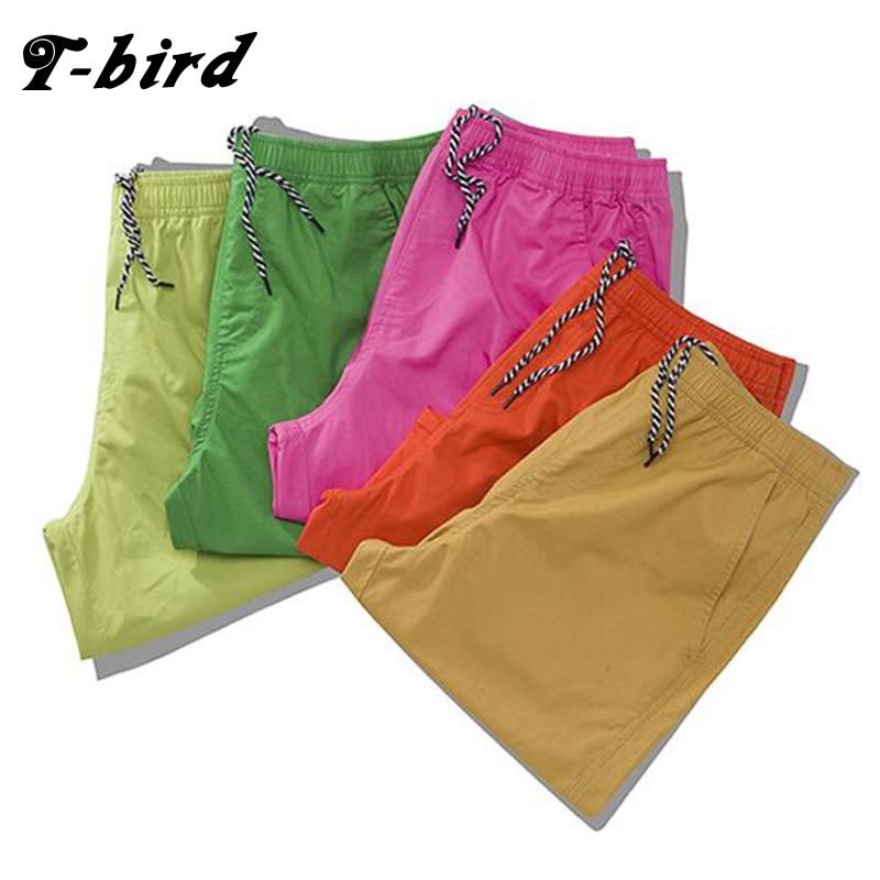 T-Bird 2017 Mens Shorts Casual Bermuda Brand 9 Color Cotton Leisure Men Linen Fashion Men Short Summer Linen XXXL