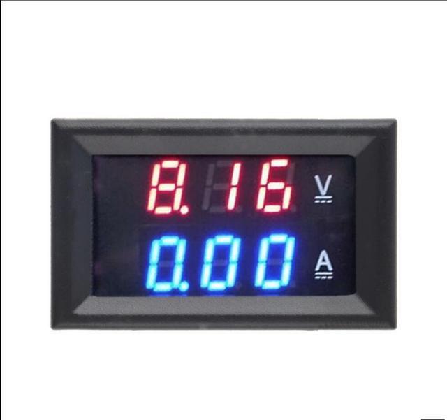 """DC 0-100 V 10A цифровой вольтметр Амперметр Двойной дисплей детектор напряжения панель измерителя тока Ампер Вольт Калибр 0,28 """"Красный Синий светодиодный"""