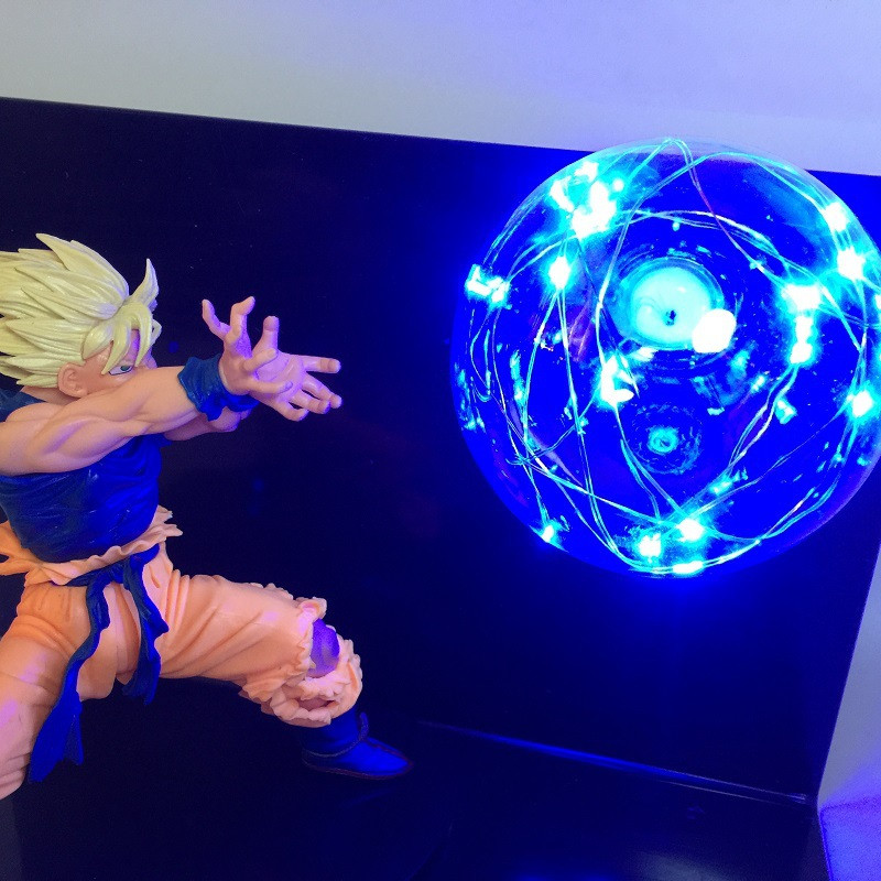 EU US Dragon Ball Z Super Saiyan Led Night Light  DBZ Dragon Ball Super Son Goku Vegeta Led Table Desk Lamp Luminaria 110V 220V