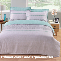 EHOMEBUY Bedding Sets Fashion Reactive Printed US Size Gray Lines 1 Quilt Cover With 2 Pillow