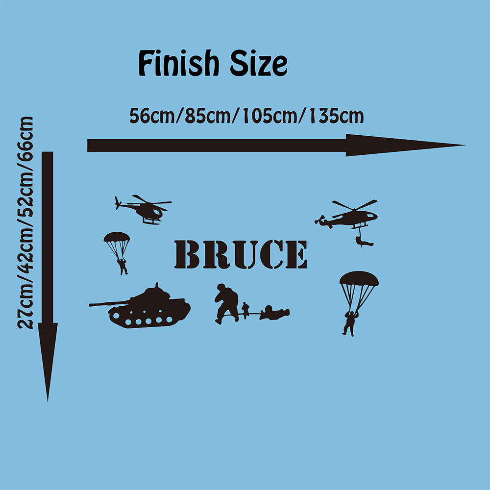 Personalized Army Soldiers for Decorating Boys Bedroom or Playroom Boy Name Wall Decals Vinyl Decor