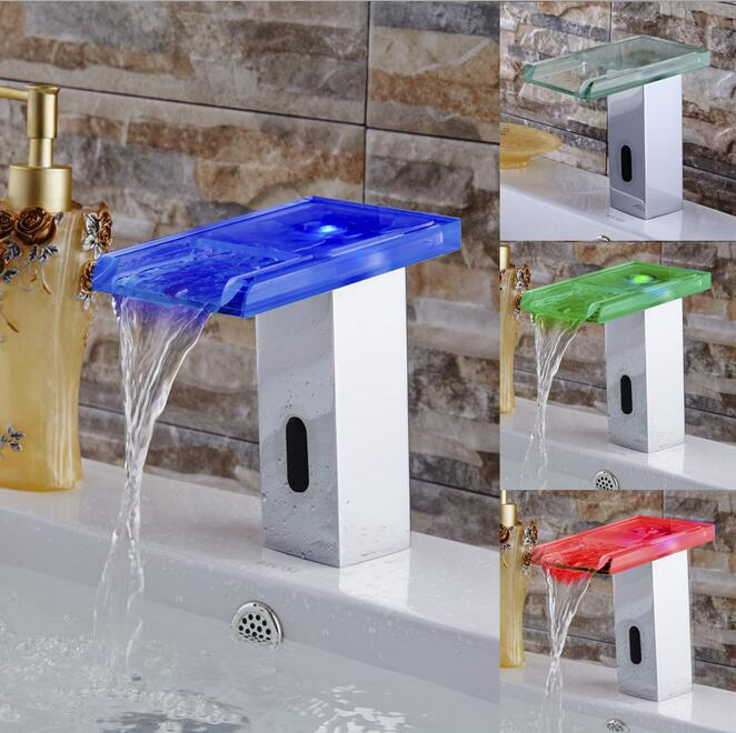 Digital Touchless sensor led Basin faucet auto digital faucet mixer Basin Bathroom faucet sink faucet Tap Torneira цена