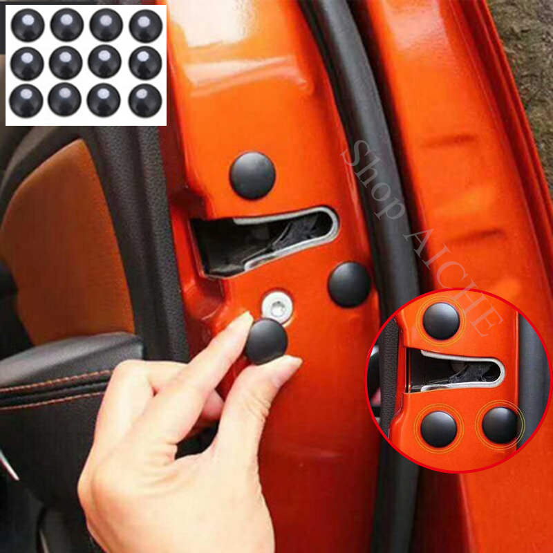 12 Pc Car Door Lock Screw Protector Cover Accessories For Mitsubishi Eclipse Lancer 10 Evo Galant Outlander 3 Montero Asx