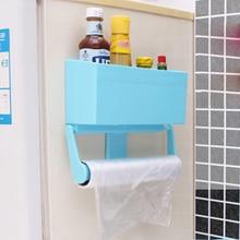 Magnetic Refrigerator Shelf Kitchen Storage Rack Paper Towel Bottle Rack Cling Film Holder for Refrigerator Kitchen Accessories