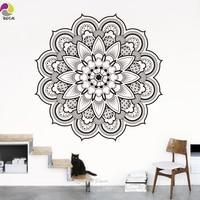 Namaste Mandala Wall Sticker Living Room DIY Yoga Lotus Wall Decal India Buddha Ornament Om Symnol