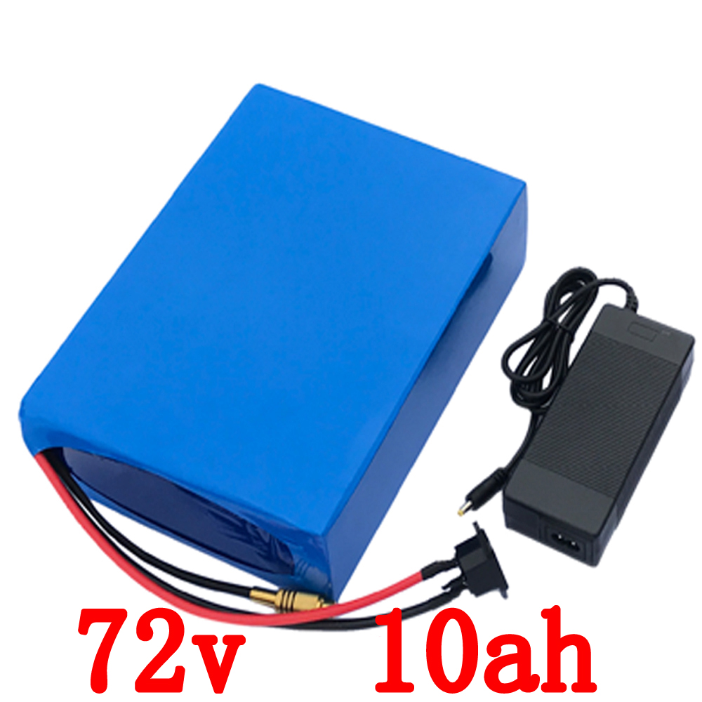 Free Shipping e-bike Battery 72V 10Ah 1500W Electric Scooter Battery 72v with 84v 2A Charger,30A BMS Lithium Bike Battery e bike battery 24v 10ah 350w lithium electric bike scooter battery 24v with 29 4v 2a charger 15a bms free shipping 24v battery