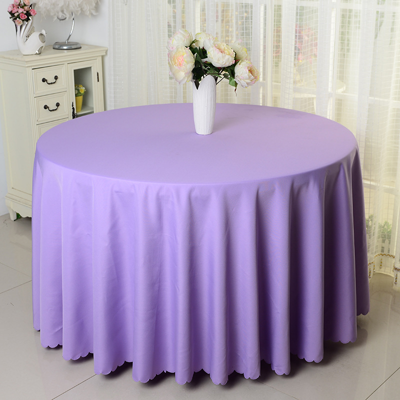 10pcs lavender plain round polyester visa table cloths banquet wedding polyester table covers for table decoration