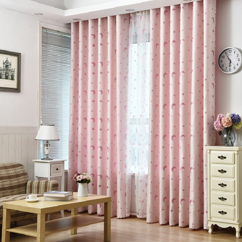 Modern Children Curtains Star Moon Window Curtain Decoration Drapes ...