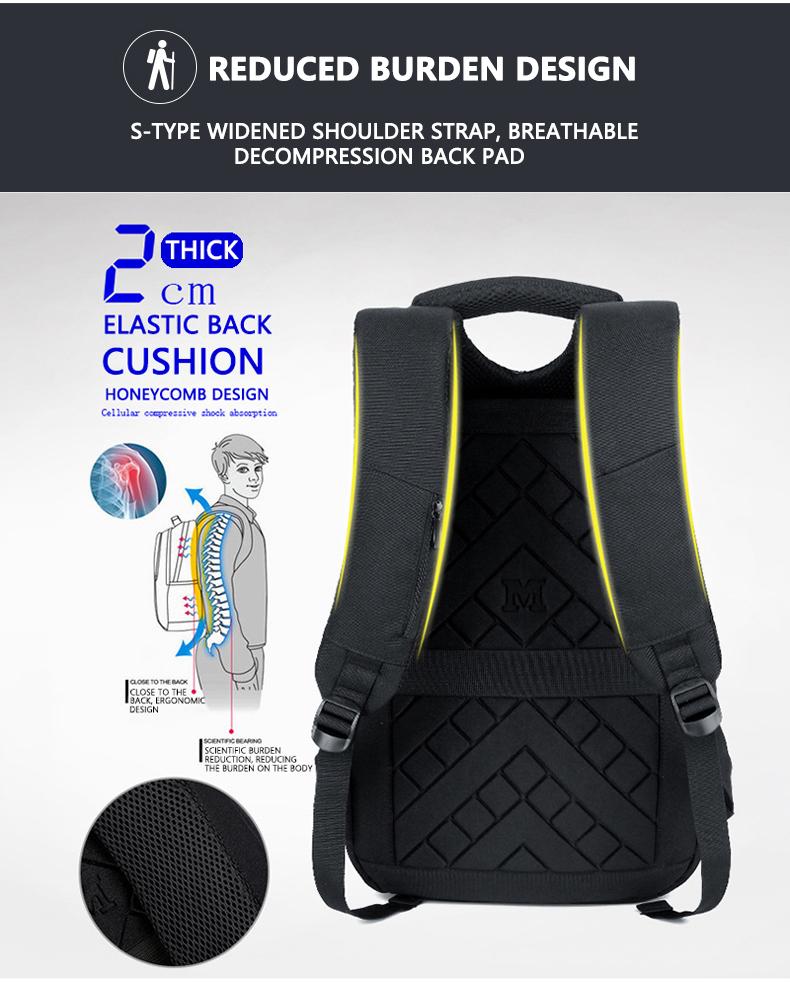 HTB1RQAPXIfrK1RkSmLyq6xGApXaj - Mens 15.6 inch Laptop Business Backpacks Waterproof Male Travel