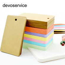 Cute Kawaii Candy Color Blank Kraft Paper Memo Pads Portable Notepads Ord Kort Børn Gave Stationery School Supplies