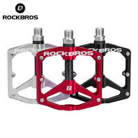 ROCKBROS MTB Cycling Ultralight Pedal Bike Bicycle Sealed DU Bearing Pedals Aluminum Alloy CRMO Non-slip Cleat Bike Part Pedals