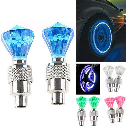 New Arrival 2 Pcs Auto LED Tire Valve Lamp Flashing Light Tyre Wheel Light for Car Bicycle цена
