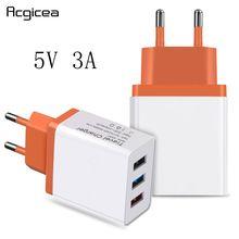 ユニバーサル 3 usb 充電器 5 v 3A 携帯電話充電器 11 プロ急速充電 usb 充電器サムスン S10 S9 ac アダプタ