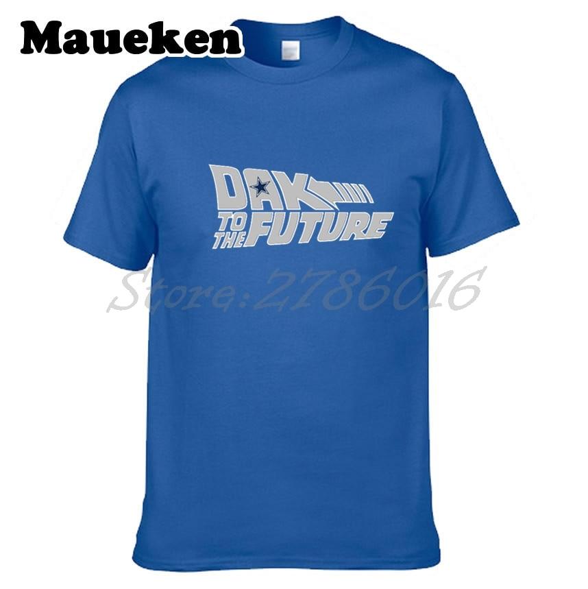 Men T-shirt Dak Prescott #4 Dallas Back to the Future Tees Short Sleeve T SHIRT Mens DAK Logo W1020002