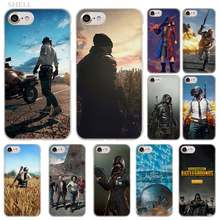 Plusplayerunknown 'S Medan Pertempuran Pubg Fashion Transparan Penutup Case untuk iPhone Xi R 2019 X Max XR X 4 S 5 S SE 6 6 S 7 7 Plus(China)