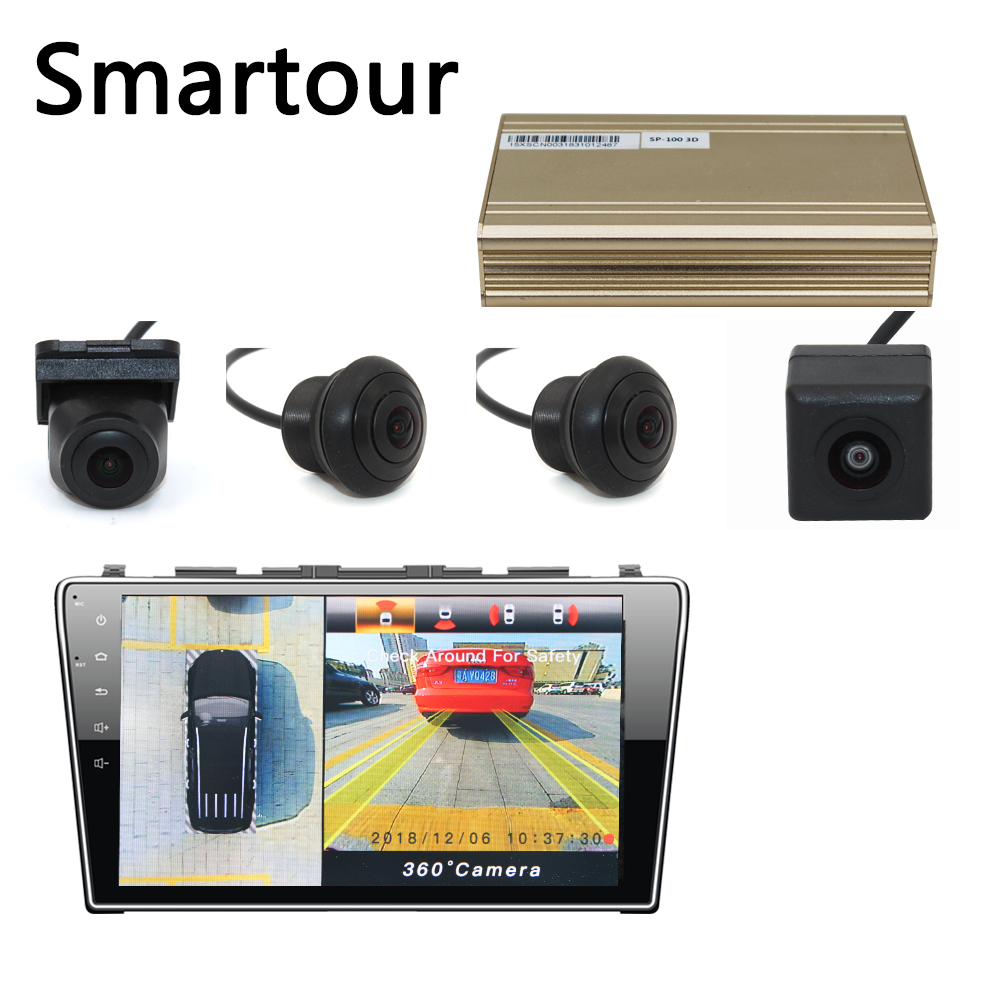Image 4 - Smartour Car 3D 360  Surround View System Driving With Bird View Panorama System 4 Car Camera 1280P DVR G Sensor-in Car Multi-angle Camera from Automobiles & Motorcycles