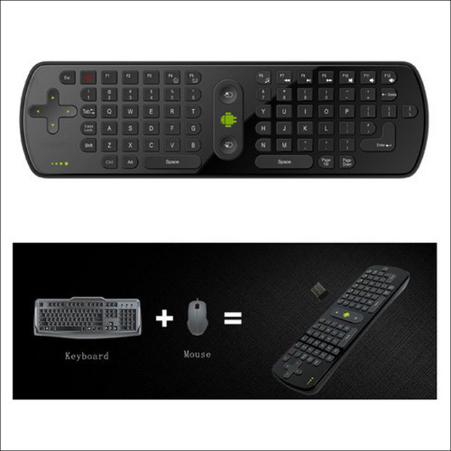 Flying Air Mouse RC11 2.4GHz wireless Keyboard for google android Mini PC smart TV Remote controller Google TV Box free ship
