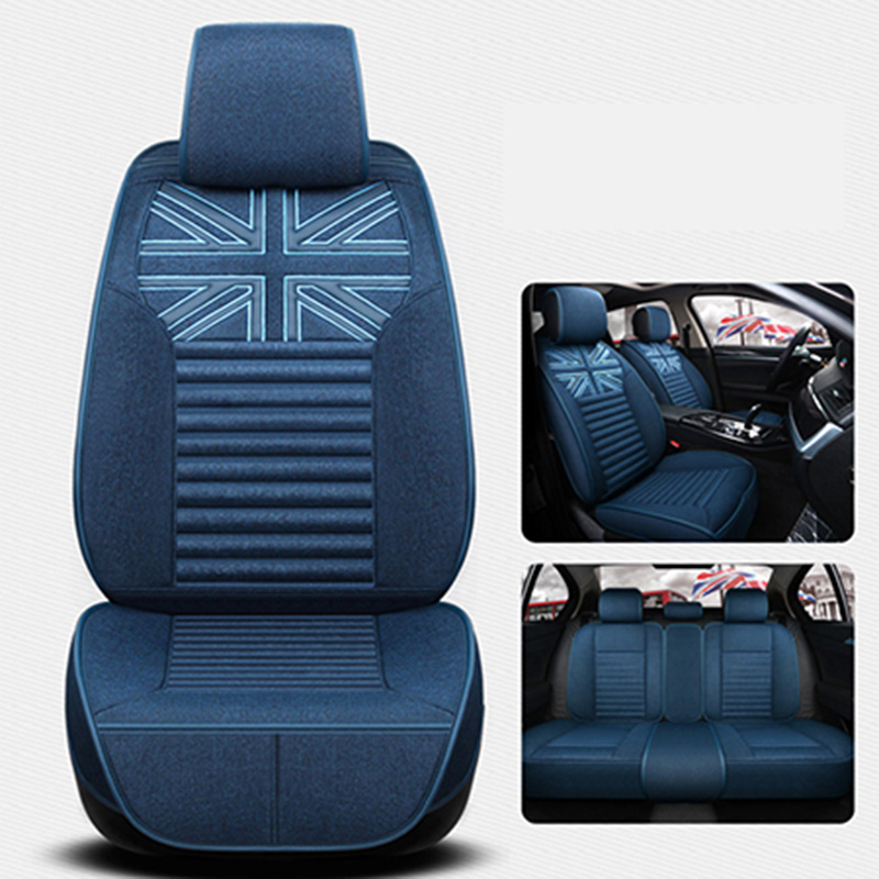 Front+back Flax Universal Car Seat Cover for skoda fabia 1 2 3 octavia a5 a7 rs rapid spaceback superb