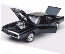 Dodge Challenger 1/32 Scale Alloy Diecast Car Model Toys Fast & Furious 7 Black Car Model Gifts Collections(China)