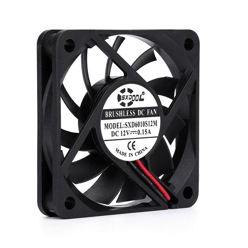 Brand New SXDOOL SXD6010S12M 6010 60mm Slim 10mm DC 12V 0.15A 3300RPM 13CFM Axial Cooling Fan