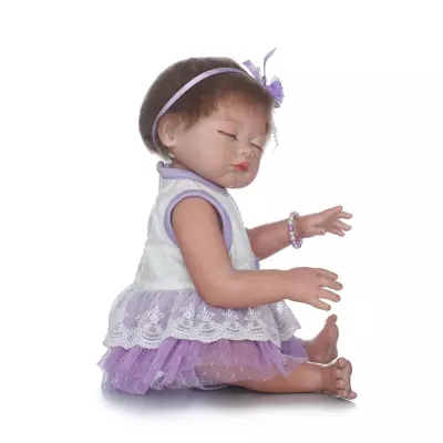 50cm Full body silicone reborn baby girl doll toys lifelike vinyl newborn babies doll child birthday gift girl brinquedos bathe карта памяти transcend micro sdhc card 8gb class 10 ts8gusdc10