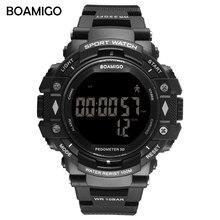 BOAMIGO choque Homens Digitais Esportes Relógios Militares Levou Mergulho 100 m À Prova D' Água homem de calorias pedômetro relógio inteligente Relogios Masculino