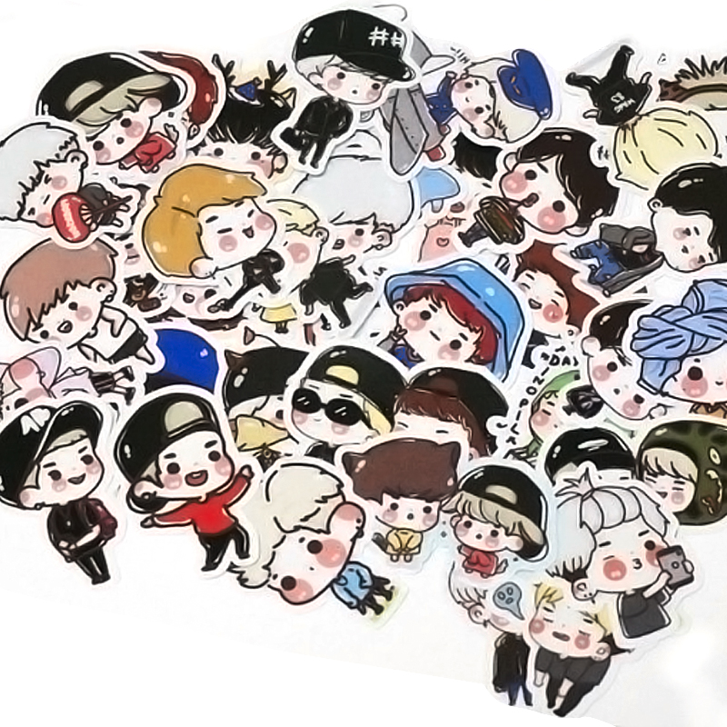Kpop Got7 Portable Summer Hand Fans Jb Jinyoung Mark Jackson Youngjae Costumes Cartoon Toy Collection Hf140 Fashionable Style; In