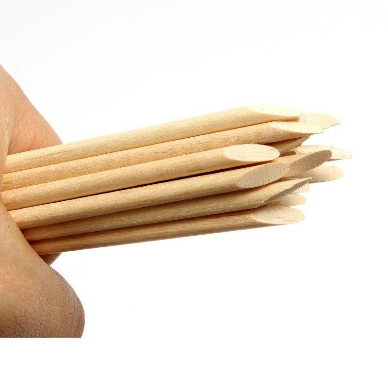 Duplo-end laranja madeira varas empurrador de cutícula